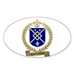 CHARBONNEAU Family Crest Oval Sticker