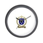 CHARBONNEAU Family Crest Wall Clock