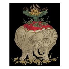 Decorative Asian Elephant Unframed Print