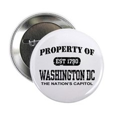 "Property of Washington DC 2.25"" Button"