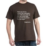 Norris Criticism Quote (Front) T-Shirt