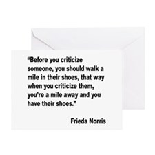 Norris Criticism Quote Greeting Card