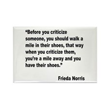 Norris Criticism Quote Rectangle Magnet