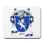 Alan Family Crest Mousepad