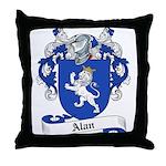 Alan Family Crest Throw Pillow