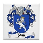 Alan Family Crest Tile Coaster