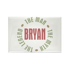 Bryan Man Myth Legend Rectangle Magnet
