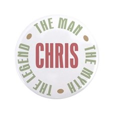 "Chris Man Myth Legend 3.5"" Button"