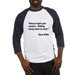 Wilde Annoy Enemies Quote (Front) Baseball Jersey