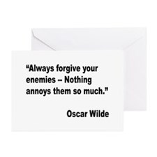 Wilde Annoy Enemies Quote Greeting Cards (Pk of 10