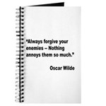 Wilde Annoy Enemies Quote Journal