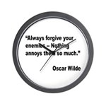 Wilde Annoy Enemies Quote Wall Clock