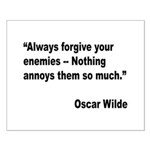 Wilde Annoy Enemies Quote Small Poster