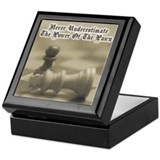 Chess Quote Vintage 3 Keepsake Box