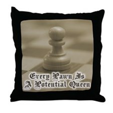 Chess Quote Vintage 4 Throw Pillow