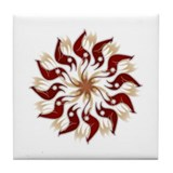 Poinsetta Tile Coaster
