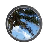 Tropical Sky Palm Wall Clock