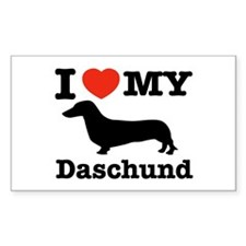 I love my Daschund Rectangle Sticker 10 pk)