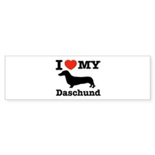 I love my Daschund Bumper Sticker (10 pk)