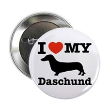 "I love my Daschund 2.25"" Button (100 pack)"