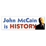 John McCain is History bumper sticker