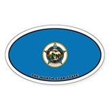 Minnesota State Flag Oval Decal