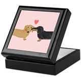 Dachshund Smooch Keepsake Box