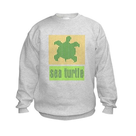 Bar Code Turtle Kids Sweatshirt
