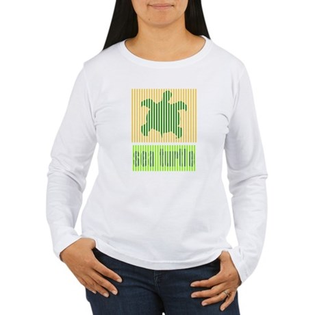 Bar Code Turtle Women's Long Sleeve T-Shirt