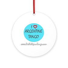 I Love Argentine Tango Ornament (Round)