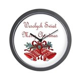 Polish Christmas Wall Clock
