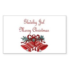 Norway Christmas Rectangle Sticker 10 pk)