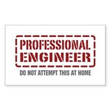 Professional Engineer Rectangle Bumper Stickers