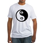 Yin-Yang Peace Sign Fitted T-Shirt