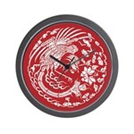 Red Dragon Wall Clock