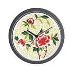 Delicate Blossoms Wall Clock