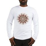 Red Pinwheel Long Sleeve T-Shirt