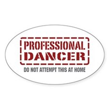 Professional Dancer Oval Sticker (50 pk)