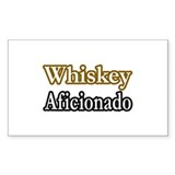 &quot;Whiskey Aficionado&quot; Rectangle Sticker 50 pk)
