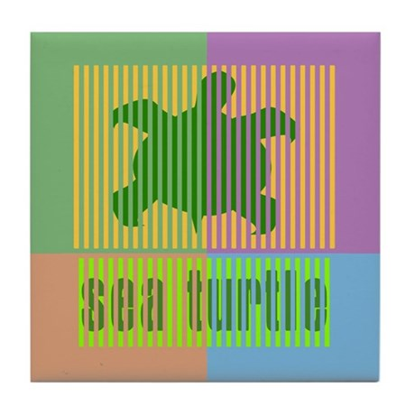 Bar Code Turtle Tile Coaster