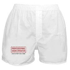 Professional Crane Operator Boxer Shorts