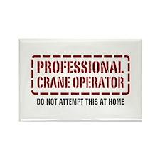 Professional Crane Operator Rectangle Magnet