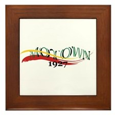 Motown Brush Framed Tile