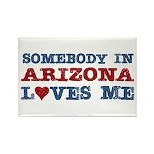 Somebody in Arizona Loves Me Rectangle Magnet (10
