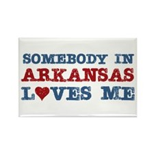 Somebody in Arkansas Loves Me Rectangle Magnet