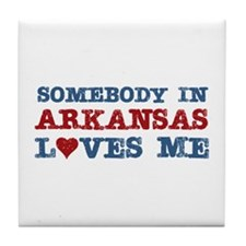 Somebody in Arkansas Loves Me Tile Coaster