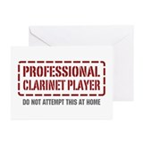 Professional Clarinet Player Greeting Cards (Pk of