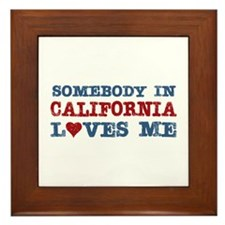 Somebody in California Loves Me Framed Tile