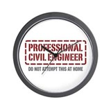 Professional Civil Engineer Wall Clock