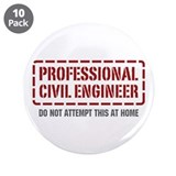 "Professional Civil Engineer 3.5"" Button (10 pack)"